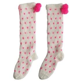 英国PomPomスーパー太めの愛のパターンのウールのブレンド手編みの靴下