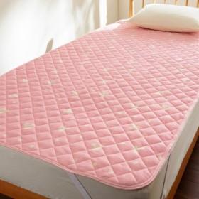 敷きパッド シーツ ディズニー ミッキー 綿100% ピンク シングル