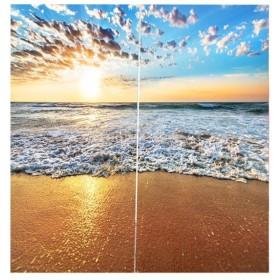 3D 海の景色 窓カーテン 遮光 ウィンドウカーテン リビングルーム 装飾 新築祝い 全15パターン  - 海潮, 166x150cm