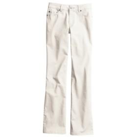 すごく伸びる綿混ブーツカットパンツ(選べる3レングス) (レディースパンツ),pants