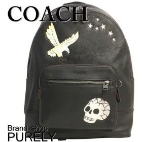 コーチ バッグ メンズ COACH リュックサック 全品ポイント5倍 イーグル モチーフ ウエスト バック パック F31567 QB/M2 ブラックマルチ