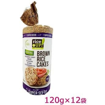 rice UP(ライスアップ) ブラウンライスケーキ(米菓子) セブンスーパーシード 120g×12袋 3800233071542