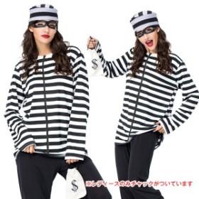 囚人 コスプレ 囚人服 帽子 メンズ レディース 安い ハロウィン 仮装 衣装 コスチューム イベント m677