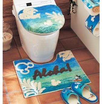 トイレマット 洗える すべりにくい ディズニー おしゃれ ブルー ミッキー マットのみ