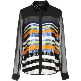 《期間限定 セール開催中》TWIN-SET JEANS レディース シャツ ブラック S ポリエステル 100% / レーヨン