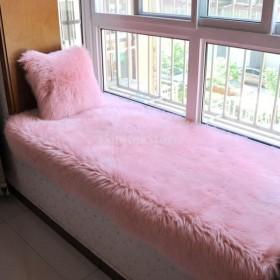 人工ウールラグ 柔らかい フロア カーペット マット シートクッション 豪華 装飾 クリスマス ギフト 全5色 - ライトピンク