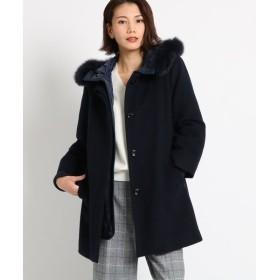 COUP DE CHANCE / クードシャンス フード中綿コート付ノーカラーコート