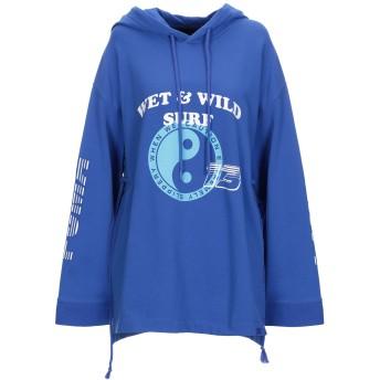 《期間限定セール開催中!》FENTY PUMA by RIHANNA レディース スウェットシャツ ブルー XXS コットン 78% / ポリエステル 17% / ポリウレタン 5% LS HOODIE GATHERED