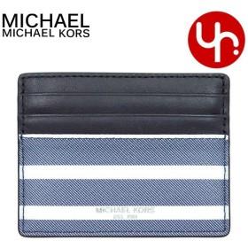 893c0efbd83a マイケルコース MICHAEL KORS 小物 カードケース 36T8LGRD1O ブルー×エクリュ グラント ストライプ トール カード ケース
