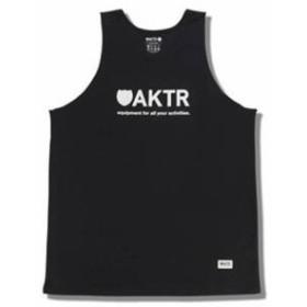 バスケットノースリーブ タンクトップ ウェア   アクター AKTR BASIC LOGO TANK BK Blk   【ME