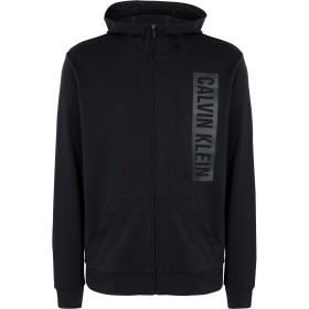 《期間限定セール開催中!》CALVIN KLEIN PERFORMANCE メンズ スウェットシャツ ブラック M コットン 100% fz hoody