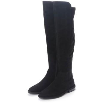 ヌエール nouer ELVOZANONスウェードタッチロングブーツ (ブラック)