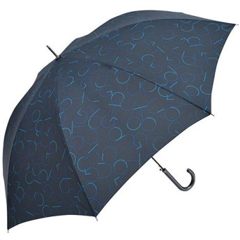 ニフティカラーズ(Nifty Colors) メンズ レディース 長傘 ジャンプ GO OUT ネイビー 8本骨 65cm 5083 傘 通勤通学 雨具 レイングッズ 雨傘 ジャンプ