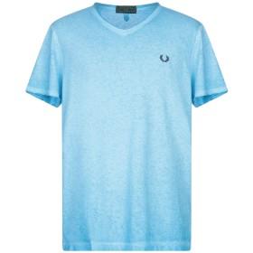 《期間限定セール開催中!》FRED PERRY メンズ T シャツ ターコイズブルー M コットン 100%