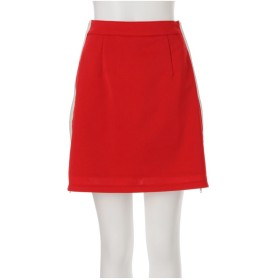 MURUA サイドZIP台形スカート(レッド)