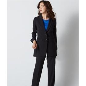 防汚加工すごく伸びるもっとロング丈パンツスーツ(ストレッチ総裏地) (大きいサイズレディース)スーツ,women's suits ,plus size