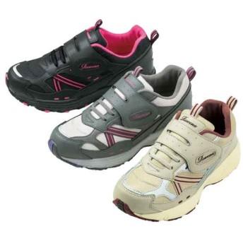 【格安-女性靴】レディース幅広3Eメッシュスニーカー