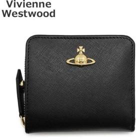 ヴィヴィアンウエストウッド 財布 51080020-40187-N401 ブラック 二つ折り財布 レディース Vivienne Westwood