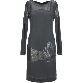 《セール開催中》ELISA CAVALETTI by DANIELA DALLAVALLE レディース ミニワンピース&ドレス 鉛色 M コットン 95% / ポリウレタン 5% / レーヨン / ポリエステル