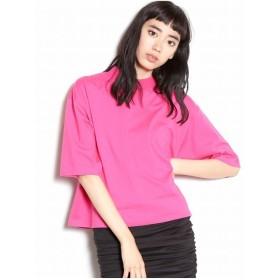 EMODA ハイネックコンパクトTシャツ(ピンク)