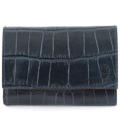 felisi フェリージ 450 SA クロコ調 エンボスレザー 名刺入れ カードケース カラー0005/BLEU-BLUE メンズ