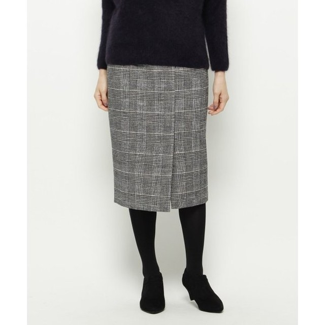 Modify / モディファイ グレンモールチェック ストレートスカート