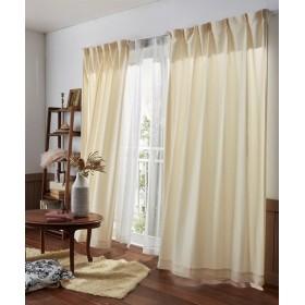 【送料無料!】繊細ラインのリーフ柄カーテン ドレープカーテン(遮光あり・なし) Curtains, 窗, 窗簾