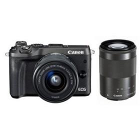 EOS M6 ダブルズームキット [ブラック]  デジタル一眼カメラ CANON 新品・送料無料(沖縄・離島除く)