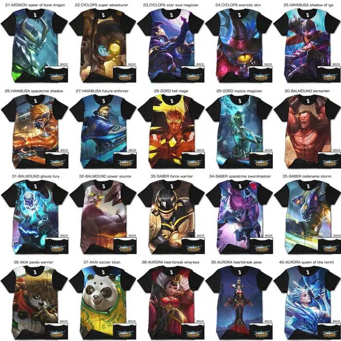 25 Desain Baju Mobile Legend - Desain Baju