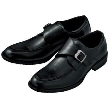 【格安-男性靴】(アルコーゼ)メンズ3E幅広モンクストラップビジネスシューズ