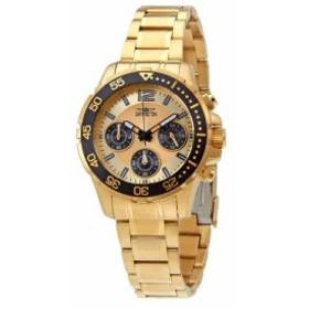 【当店1年保証】インヴィクタInvicta Pro Diver Lady Chronograph Gold Dial Ladies Watch 25747