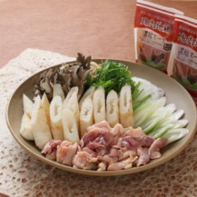 お中元 のし可 肉 ご自宅で簡単に秋田名物!秋田名物きりたんぽ、比内地鶏肉、比内地鶏スープのセット きりたんぽ鍋セット(2~3人前)