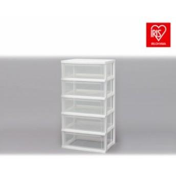 収納ボックス 収納ケース チェスト クリアチェスト ワイドチェスト 5段 W-545 プラスチック 引き出し 押入れ収納 衣類収納 衣類収納ケー