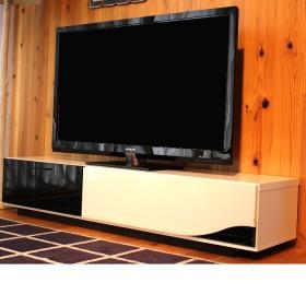 日本製 大型テレビ台 完成品 (幅150cm) ホワイト