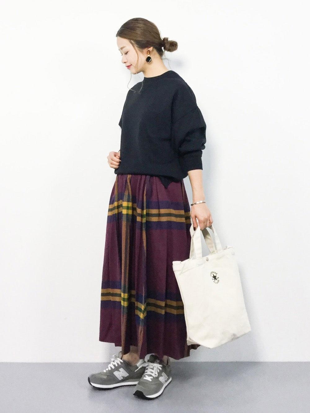 タータンチェックのスカート
