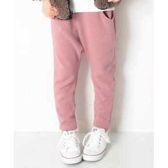 【10%OFF】 デビロック まるで着る毛布 裏シャギーサルエルパンツ 裏起毛 レディース ピンク 150 【devirock】 【タイムセール開催中】