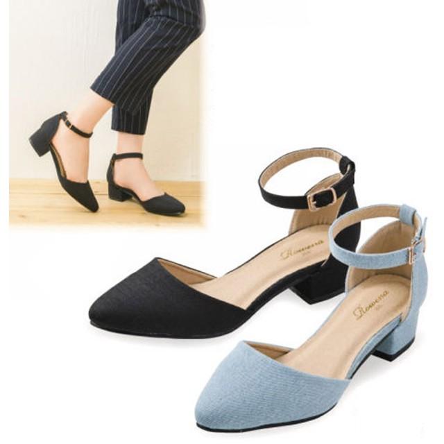 【格安-女性靴】【30%OFF】レディースポインテッドトゥセパレートパンプス