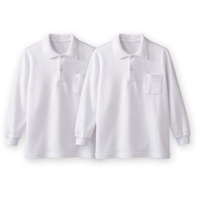 長袖ポロシャツ2枚組(ポケットあり) 制服