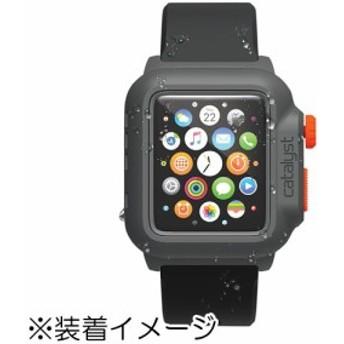 Catalyst カタリスト CT-WPAW15-BKOR 完全防水ケース ブラックオレンジ〔Apple Watch用〕