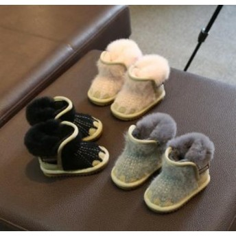 可愛い キッズ 赤ちゃん 女の子 男の子 ショートブーツ 冬 スノーブーツ 裏起毛 ソールがやらわかい