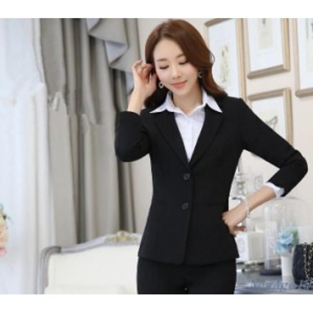 b0026d7f81463 スーツ テーラードジャケット レディース オフィス OL 長袖 トップス フォーマル 通勤 大きいサイズ コート ショート丈