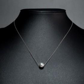 本真珠ネックレス ホワイトゴールド ネックレス グレー 真珠 8.5mm 9mm 有限会社大ハタパール工業 三重県