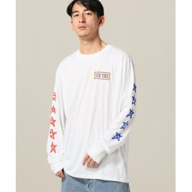 JOINT WORKS 6397 NEW YORK L/S TEE ホワイト M