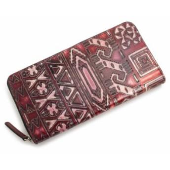 展示品箱なし キャサリンハムネット 財布 長財布 ラウンドファスナー 赤(レッド) KATHARINE HAMNETT LONDON khp444-20