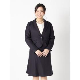 【大きいサイズレディース】【L-4L】凹凸素材のスラブラメファンシー3点スーツ スーツ スーツセット
