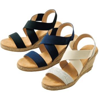 【格安-女性靴】レディースジュート巻クロスベルトサンダル