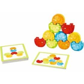 積み木 ブロック 誕生日 誕生日プレゼント 木のおもちゃ HABA ハバ社 ぞうさんの組体操 | 2歳 3歳 4歳 木製 子供 男の子 男 女の子 女 赤