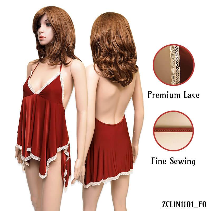 Lingerie Sexy Coklat ZCLIN1101 - Baju Tidur sleepwear by Kimochi Me 1915cc1b5c
