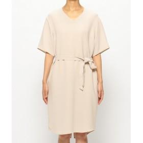ベイジ, V NECK DRESS [SHELBY] ワンピース / ドレス レディース ローズ系 2 【BEIGE,】