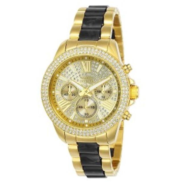【当店1年保証】インヴィクタInvicta Women's Angel Quartz Watch with Two-Tone-Stainless-Steel Str